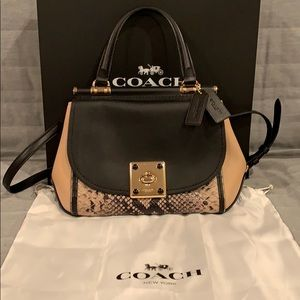 COACH Leather and Snakeskin Bag